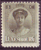 Timbre - Luxembourg - 1921 - Charlotte - Michel 123 (Charnière) - 1921-27 Charlotte Frontansicht