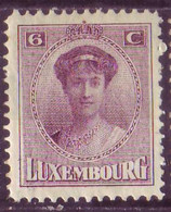 Timbre - Luxembourg - 1921 - Charlotte - Michel 124 (Charnière) - 1921-27 Charlotte Frontansicht