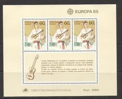Portugal 1985 - Europa Madeira, Musical Instruments S/S MNH - Blocks & Sheetlets