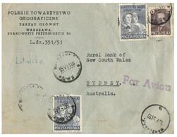 (RR 37) Cover From Poland (Pologne / Polska) Posted To Australia (Australie) (1951 ?) - Brieven En Documenten