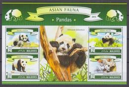 2015Maldive Islands5840-5843KLFauna - Panda10,00 € - Bats