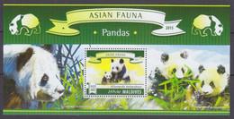 2015Maldive Islands5844/B830Fauna - Panda7,50 € - Bats