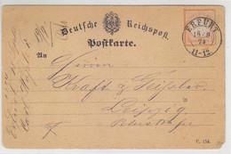 Karte Mit Der 18 EF Aus ERFURT 18.9.75 - Lettres & Documents