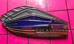 621 Pin's Pins / Beau Et Rare / THEME : TGV / MOTRICE BLEUE ET GRISE GEC ALSTHOM TRANSPORT - TGV