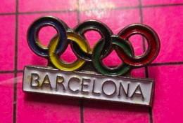 621 Pin's Pins / Beau Et Rare / THEME : JEUX OLYMPIQUES / ANNEAUX BARCELONA BARCELONE 1992 - Giochi Olimpici