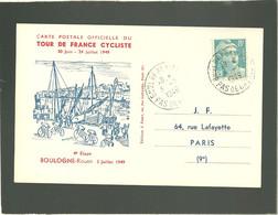 Tour De France Cyclist 1949  Boulogne  Rouen 4e étape 3 Juillet 1949 - Ciclismo