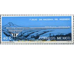 Ref. 182373 * MNH * - MEXICO. 1974. NATIONAL ENGINEERS DAY . DIA NACIONAL DE LOS INGENIEROS - Brücken