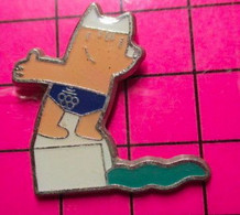 621 Pin's Pins / Beau Et Rare / THEME : JEUX OLYMPIQUES / BARCELONA 1992 MASCOTTE NATATION - Giochi Olimpici
