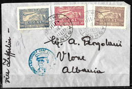 812 - GREECE - 1933 - ZEPPELIN - FULL SET ON COVER -  FORGERY, FALSE, FAUX, FAKE, FALSO - Zonder Classificatie