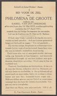 Philomena De Groote Asper 1859 Gent 1941 Doodsprentje Mortuaire - Religione & Esoterismo