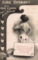 PUBLICITE   CPA     Agence Matrimoniale Madame Aurore De Liménay 169 Rue Du Paradis Paris     Précurseur - Advertising