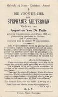 Stephanie Aelterman Landscanter 1838 Melsen 1939 Doodsprentje Mortuaire - Religion & Esotericism