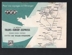 SNCF : DES TRAINS D'AFFAIRES : Horaires été 1958  (PPP29671) - Europa