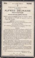 Alfred Delhaise Brancardier Mort Pour La Patrie Combat De L Yser 1915 Doodsprentje Mortuaire - Religion & Esotericism