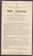 Anna Blervacq Ollignies 1844 Wodecq 1927 Doodsprentje Mortuaire - Religion & Esotericism