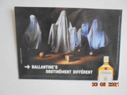 Whiskey -  Beldorney Castle. Ballantine's Finest Obstinement Different. Carte Pub - Advertising