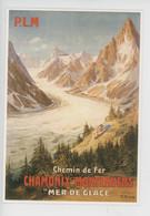 """P.L.M. Chemin De Fer Chamonix-Montenvers """"Mer De Galce"""" Bourgeois (cp N°10310 Clouet) - Advertising"""