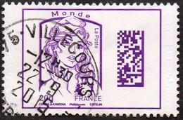 France Oblitération Cachet à Date N° 4976 - Marianne De Ciappa Et Kawena Datamatrix Monde - Gebruikt