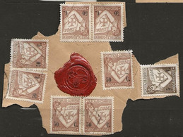 Timbre Portugal Belle Obliteration A La Cire Rouge - Used Stamps