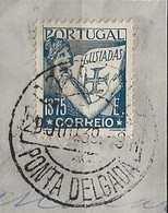 Timbre Portugal Belle Obliteration Ponta Delgada - Used Stamps