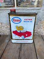 Ancien Bidon D'huile Esso Gouttes D'huile - Boîtes