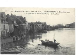 49 - ROCHEFORT SUR LOIRE - Inondations Decembre 1910les Quai  Vers Le Château De Dieuzy 72 - Andere Gemeenten