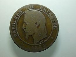 France 10 Centimes 1864 BB - D. 10 Centimes
