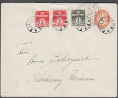 KOLLEFJORD + THORSHAVN SPIS FÆRØSK KLIPFISK 24.8.36 On 10 ØRE Envelope Print 52-R And... () - JF421039 - Faroe Islands