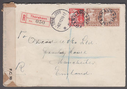 1940. Faroes. Provisional Issue. 20 Øre On 15 Øre + Pair 25 øre Karavel. On Double Ce... (Michel 4) - JF421040 - Faroe Islands