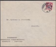 1941. Provisional Issue.  20 Øre On 5 Øre Wine Red. THORSHAVN -1.4.41. (Michel 3) - JF421041 - Faroe Islands