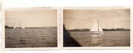 Angers. Bassin De Reculée.Régates Societaires U.V.V.A. 2 Photos Originales 1934. - Angers