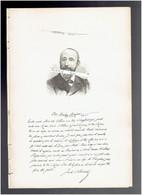 JULES CLARETIE 1840 LIMOGES 1913 PARIS ROMANCIER DRAMATURGE HISTORIEN PORTRAIT AUTOGRAPHE BIOGRAPHIE ALBUM MARIANI - Historische Documenten