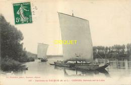 49 Gennes, Bateaux Sur La Loire, Superbe Gabare En Gros Plan, Affranchie 1912 - Sonstige Gemeinden