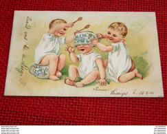 FANTAISIES -  HUMOUR -  ENFANTS -   3  Jeunes Enfants S'amusant  -  1905 - Humour