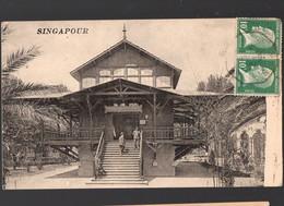 Singapour ( Carte Ayant Voyagé De France à France 1924) (PPP29682) - Singapore