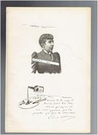 LOUISE ABBEMA 1853 ETAMPES 1927 PARIS PEINTRE GRAVEUR PORTRAIT AUTOGRAPHE BIOGRAPHIE ALBUM MARIANI - Documents Historiques