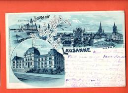 ZOT-23 Souvenir De Lausanne  Multivues. Ouchy. Circ. 1900. Dos Simple - VD Vaud