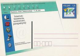 Poland Postcard Cp. 1256: Internet Phone, Computer - Postwaardestukken