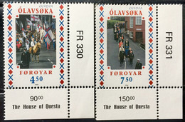 FAROE ISLANDS 1998 MNH STAMP ON EUROPA,   NATIONAL FESTIVAL ,FLAG , PEOPLE  IMAGE 2 DIFFERENT STAMPS - Faroe Islands