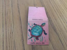 """Ancienne Pochette D'allumettes Etats-Unis 1957 """"OHIO BLUE TIP - PAINTED TURTLE"""" (tortue) - Matchboxes"""