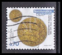 Portugal 2021 Numismática Portuguesa  2.º Grupo Morabitino D. Sancho I 0,70 € Coin Coins Monnaie Moeda Cartor - Used Stamps