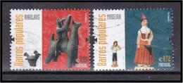 Portugal 2015 Barros Populares Barcelos Arte Art Clay Figurines Ceramics Céramiques Figurines Ribolhos Madeira - Used Stamps