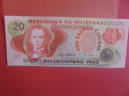 PHILIPPINES 20 PISO Peu Circuler/Neuf (B.23) - Philippinen