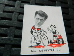 CYCLISME :CHROMO DES ANNEES 40/50 GEANTS DE  LA ROUTE DE DE FEYTER JOS BELGIQUE BELGIAN CHEWING GUM ANTWERPEN - Cycling