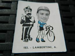 CYCLISME :CHROMO DES ANNEES 40/50 GEANTS DE  LA ROUTE DE LAMBERTINI A ITALIE BELGIAN CHEWING GUM ANTWERPEN - Cycling