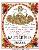 LAUTIER FILS . GRASSE . KOLA SODA - Etiquetas