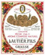 LAUTIER FILS . GRASSE . PECHE 1765 F - Etiquetas