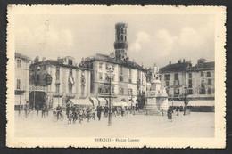 VERCELLI PIAZZA CAVOUR VG. 1913 TARGHETTA MECCANICA ESPOSIZIONE INTERNAZIONALE SPORT VERCELLI N° B741 - Vercelli