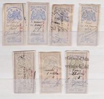 Timbres Fiscaux; Lettres De Change  1874    Entre 183 Et 198 - Other