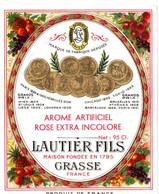LAUTIER FILS . GRASSE . ROSE EXTRA INCOLORE - Etiquetas